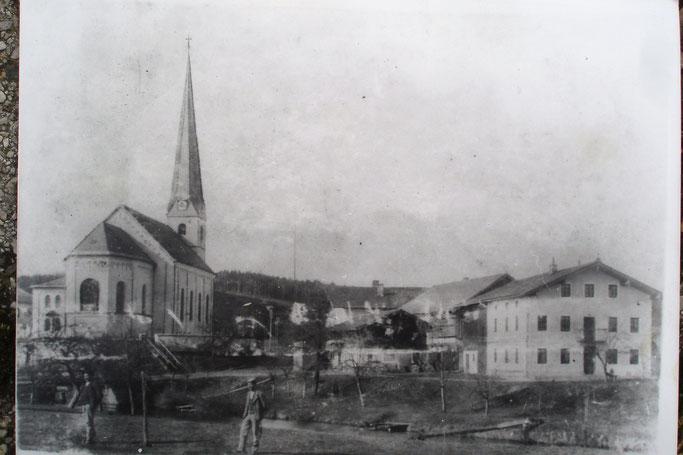 Eine historische Aufnahme Kirchanschörings