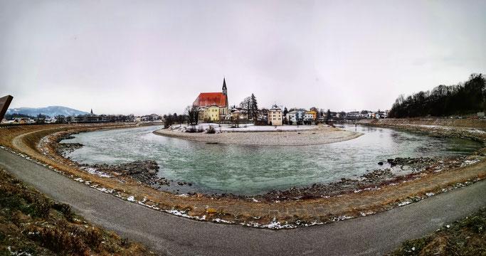 Laufen an der Salzach im Winter