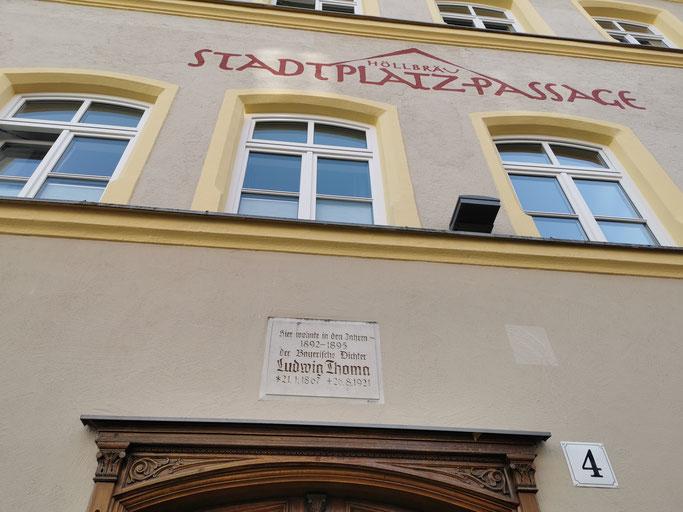 Das Wohnhaus von Ludwig Thoma in der Höllgasse in Traunstein