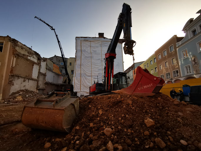 Thomas Bernhards Wohnhaus nach dem Abriss.