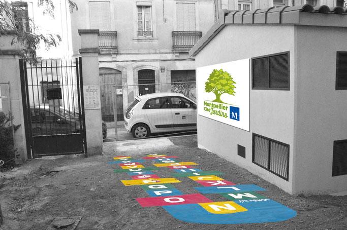 Marelle Alphabet - Marelle Montpellier Cité Jardin de Jean Paul Wabotaï 2018