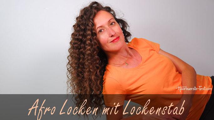 Afro Locken mit Lockenstab, afro locken selber machen