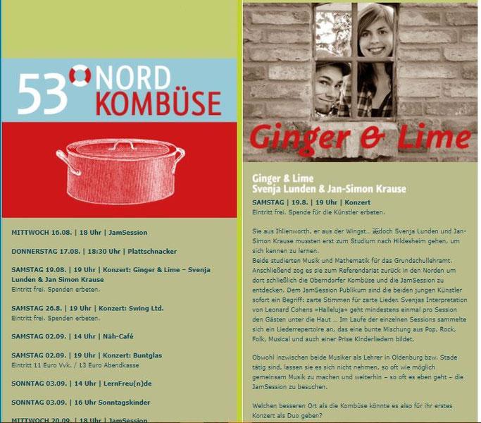 Kombüse Oberndorf Ginger & and Lime