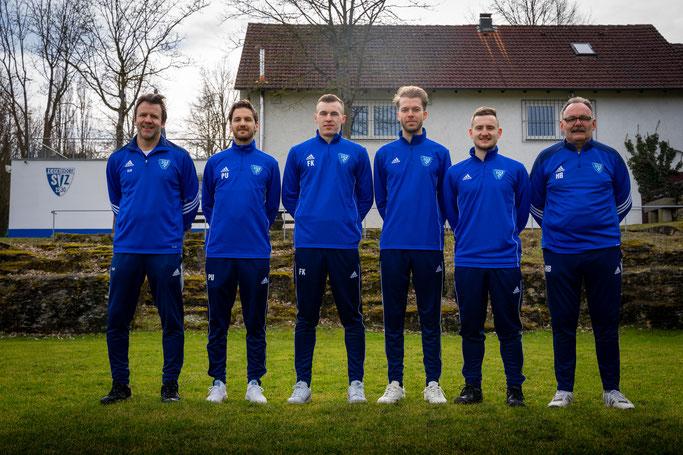 V.l.n.r.: Trainer Ipfelkofer, Uhrmann, Knauer, Kohlmeier, Geismann, Abteilungsleiter Blank | Foto: Lintl