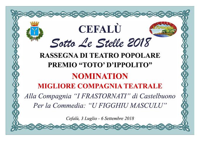 Nomination Migliore Compagnia Teatrale