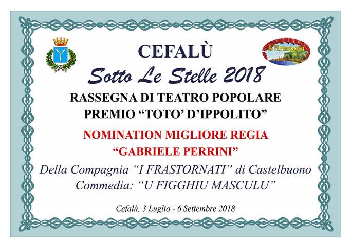 Nomination Migliore Regia Gabriele Perrini
