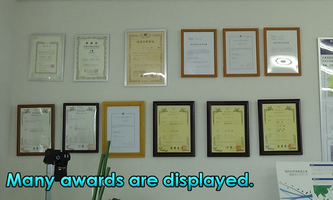 Many awards are displayed.