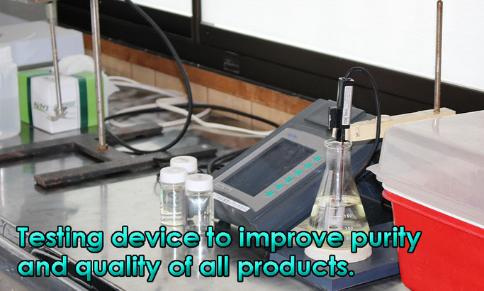 Testing device to improve purity and quality of all products.