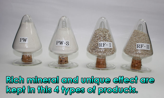 Rich mineral and unique effect are kept in this 4 types of products.