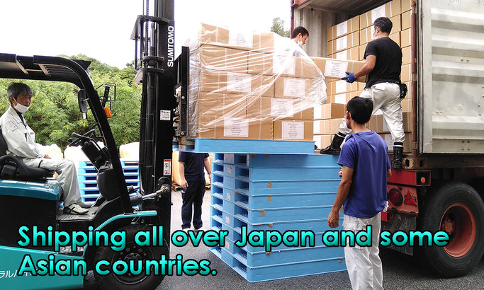 Shipping all over Japan and some Asian countries.