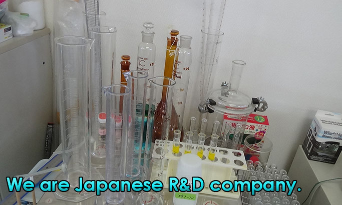 We are Japanese R&D company.