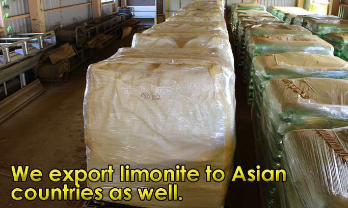 We export limonite to Asian countries as well.