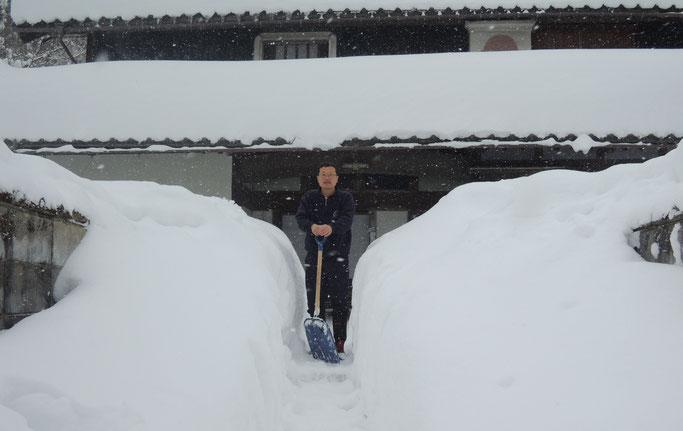 2017年1月24日、新見市千屋花見、三年ぶりの大雪