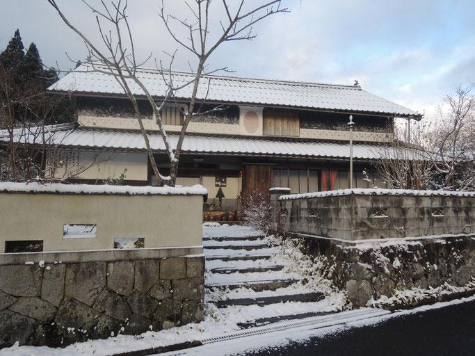 古民家民宿千屋アウトドアハウス 2016年初雪