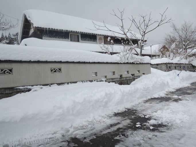 かつねない積雪、2017年2月、新見市千屋花見。