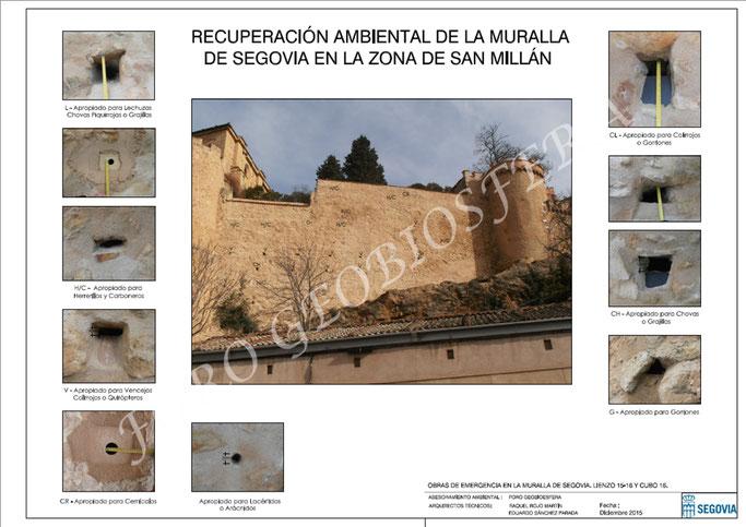 Plano elaborado por los servicios del Ayuntamiento de Segovia de las medidas de recuperación ambiental