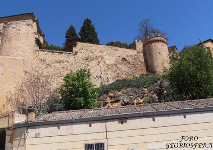 Estado del paño de la muralla por el que se acordaron iniciar actuaciones de urgencia. (Foto: F. Javier Saez Frayssinet)