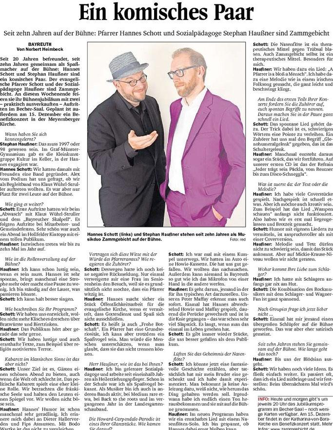Nordbayerischer Kurier vom Samstag, 4. November 2017, Seite 10
