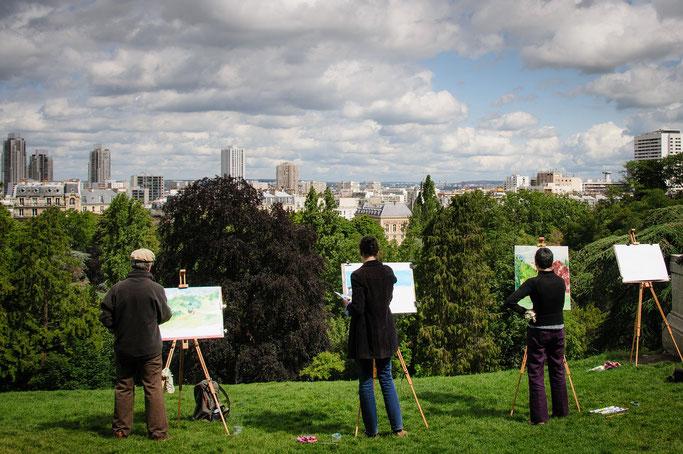 Parks in Paris Buttes Chaumont