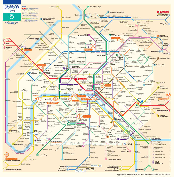 Paris Metro Plan Tickets