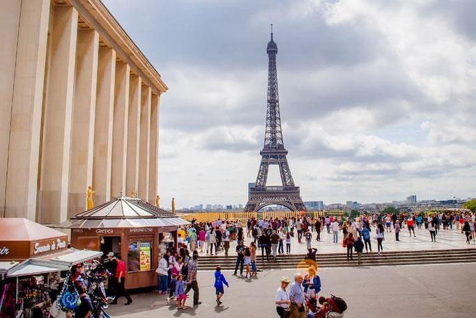 Beste Aussicht Eiffelturm Trocadero