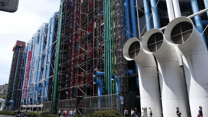 Centre Pompidou Paris Museum außen