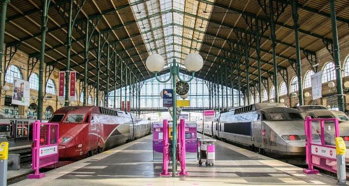 mit dem Zug nach Paris - Thalys