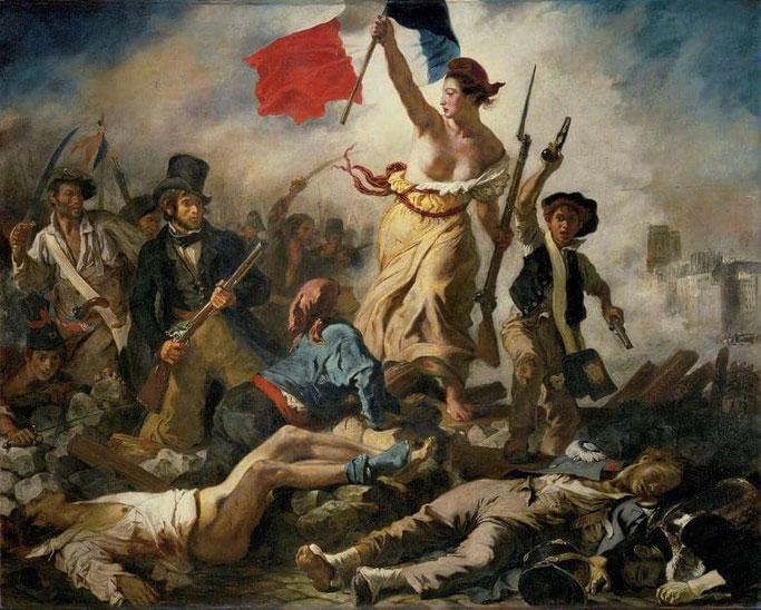 Louvre Gemälde - Die Freiheit führt das Volk