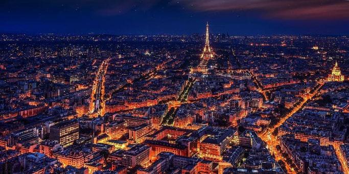 Aussicht Tour Montparnasse bei Nacht