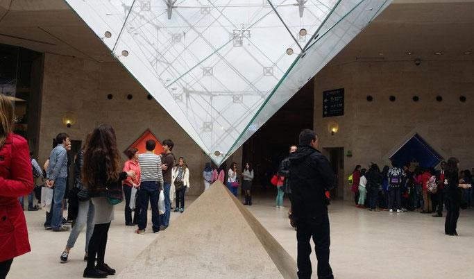 Louvre Pyramide umgedreht