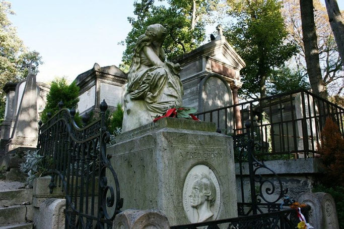 Friedhof Paris Père Lachaise Grab Chopin