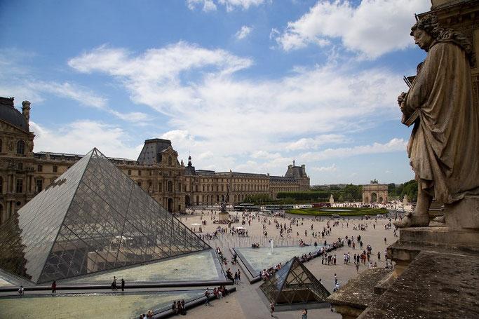 Louvre Pyramide Eingang unterirdische Passage