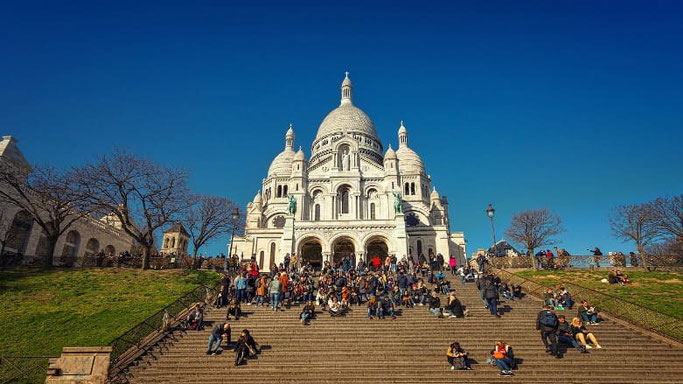 Sacre-Coeur Treppen Paris Montmartre