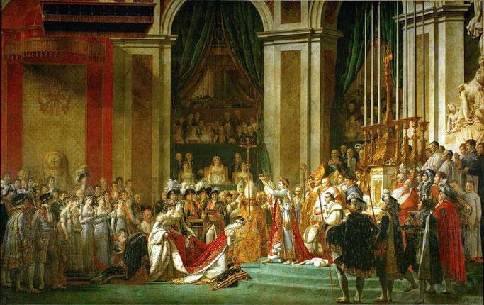 Louvre Gemälde - Napoleons Krönung in Notre Dame