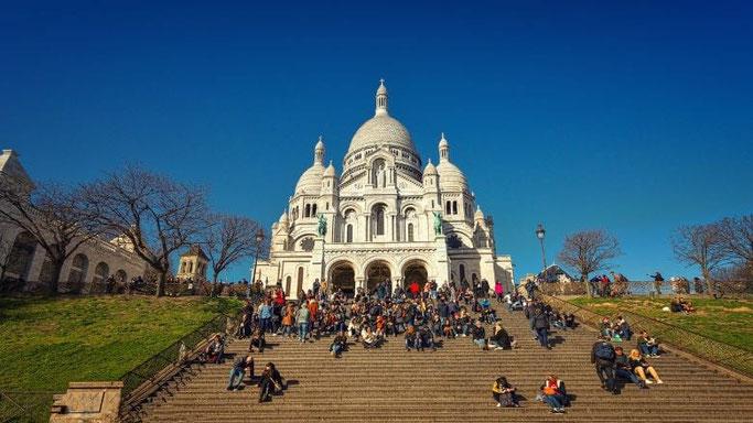 Paris Montmartre Sacre Coeur Treppen