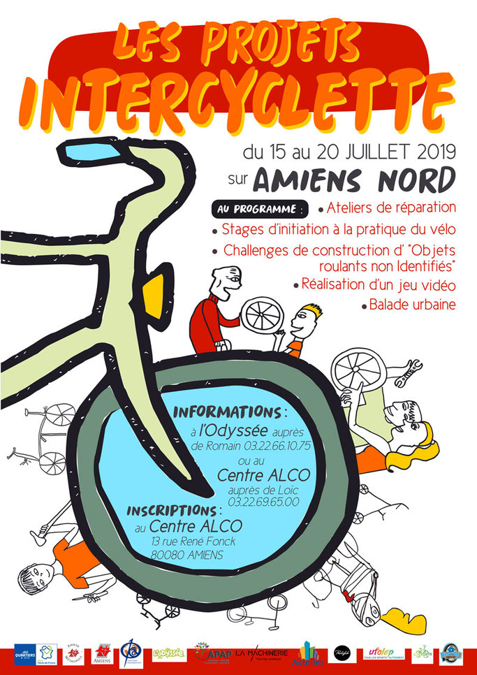 affiche présentant les projets intercyclette