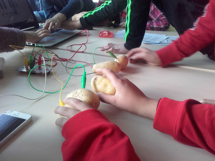 Atelier carte Makey Makey au centre social et Interculturel ALCO
