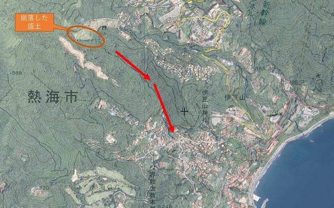 土石流の発生(熱海市2021.07.03)
