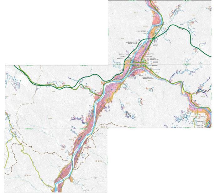 徳地地区のハザードマップ