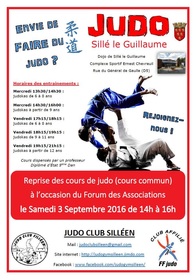 Reprise du judo saison 2016/2007 - Judo Club Silléen - Sillé le Guillaume