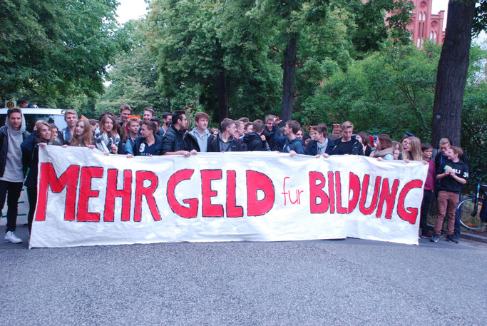 Schüler-Demonstration in Berlin