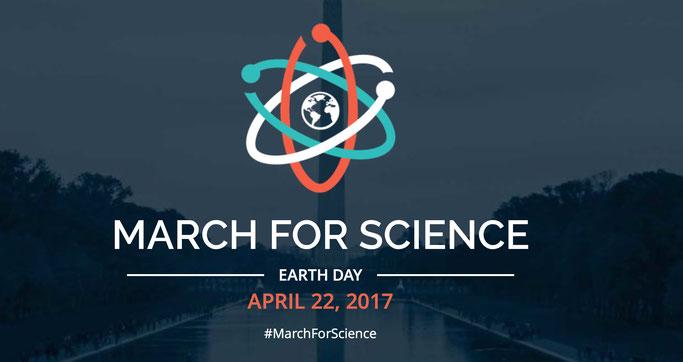 Screenshot von www.marchforscience.com