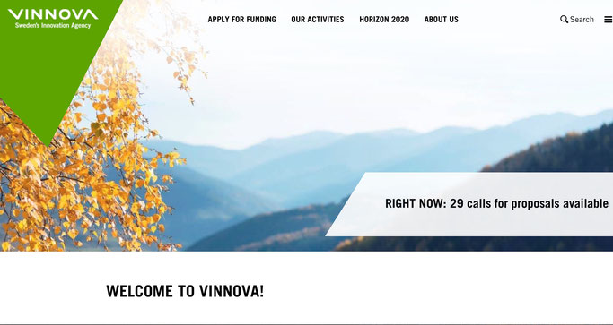 Foto: Screenshot der VINNOVA-Website