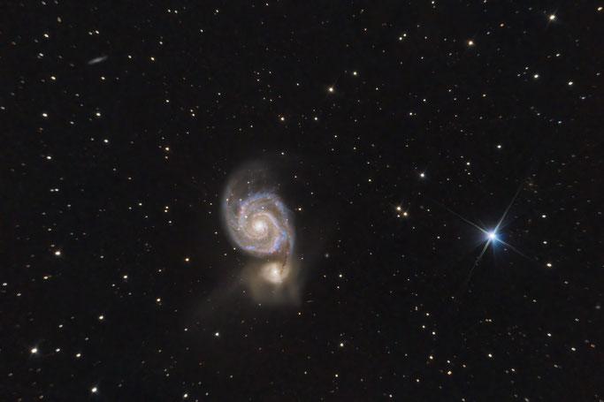 Whirlpool Galaxie - M51 - 210s - 45 subs - 750mm - gain 200 - ASI 294mc pro - Moon Skyglow Filter - APP - PS CC