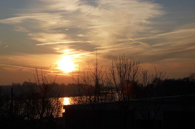 Sonnenaufgang über dem Rhein