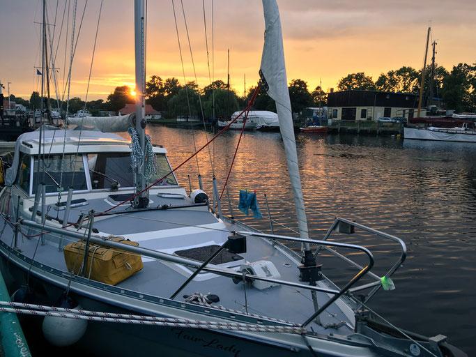 Sonnenuntergang, Greifswald