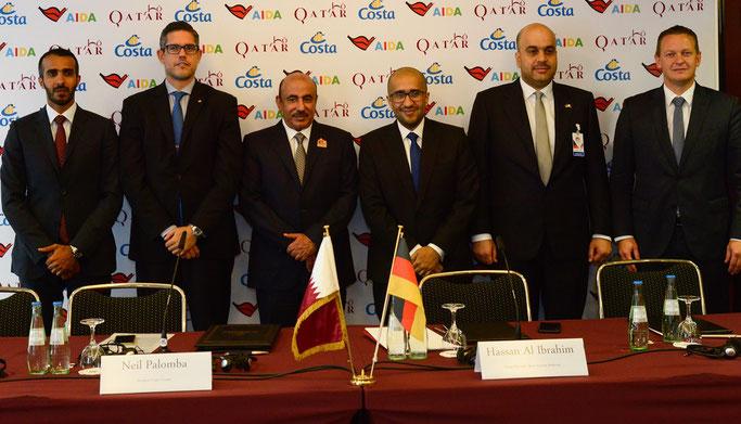 Die Costa Group unterzeichnet Absichtserklärung mit Qatar Tourism Authority // © Qatar Tourism Authority