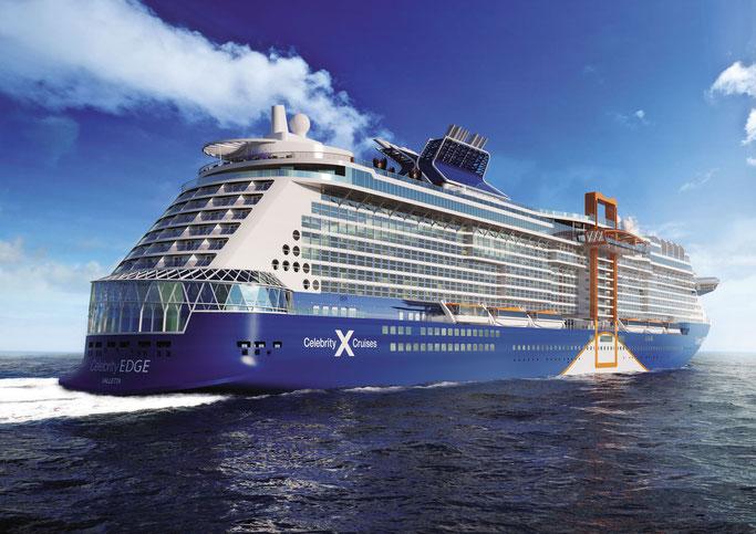 Die neue Edge-Klasse von Celebrity Cruises // © Celebrity Cruises