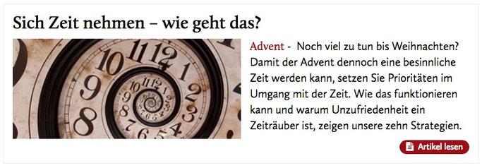 Mein Artikel über die Kunst, sich Zeit zu nehmen, auf www.katholisch.de