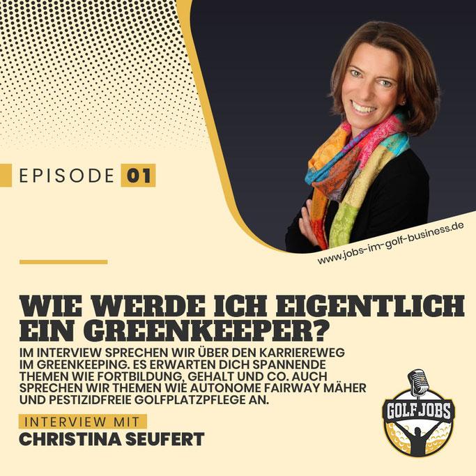 Podcast Interview mit Christina Seufert - Geschäftsführerin des Greenkeeper Verband Deutschland - Golf Branche